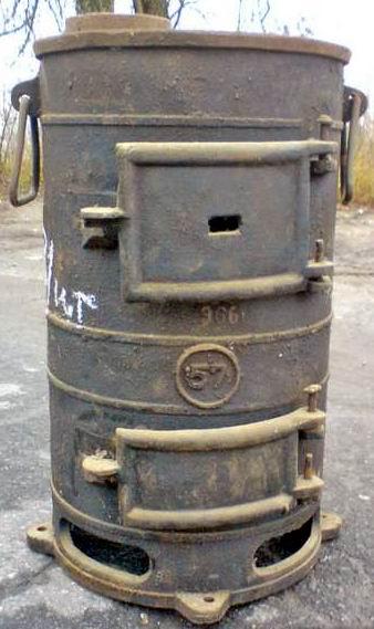 Печь - буржуйка чугунная ПОВ-57
